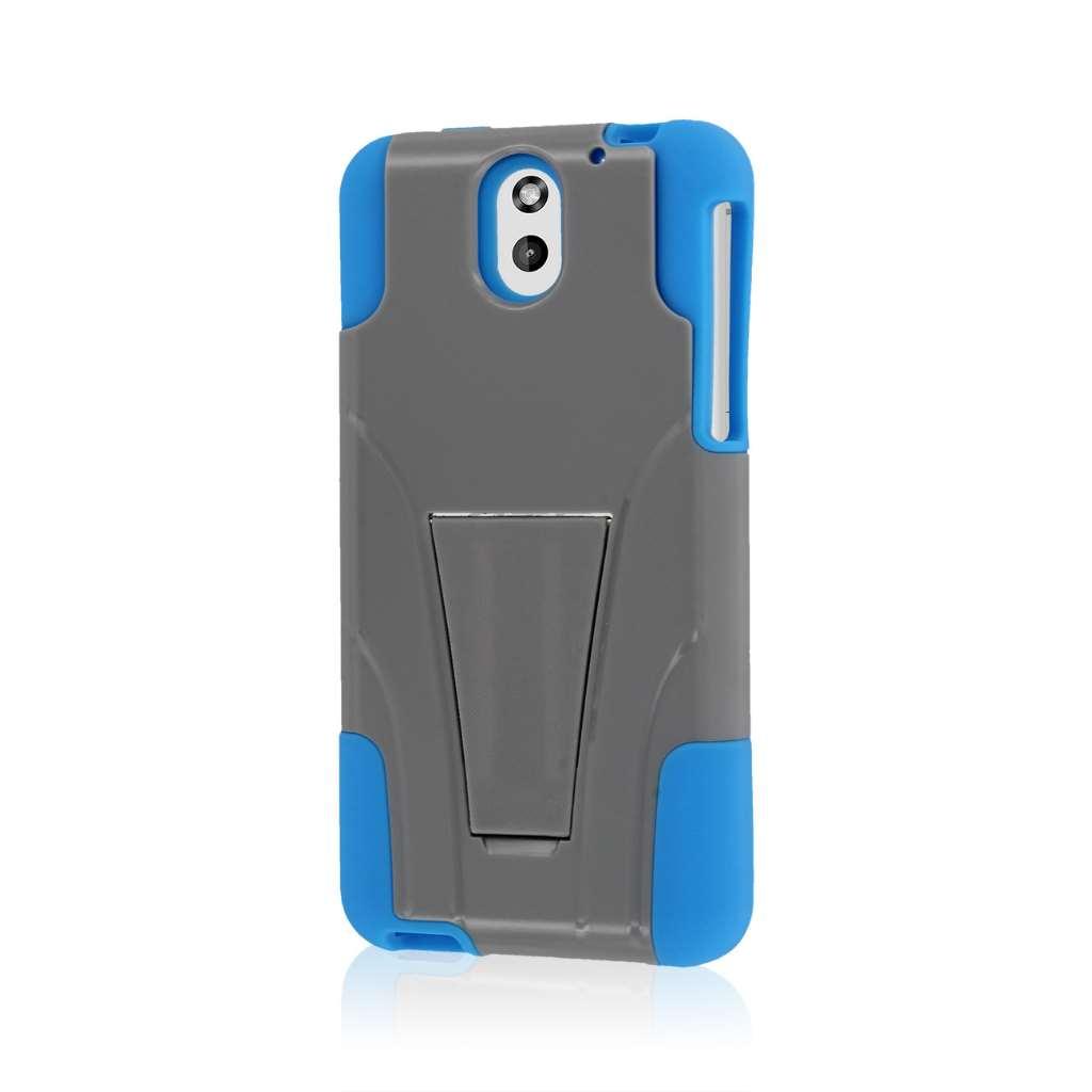HTC Desire 610 - Blue / Gray MPERO IMPACT X - Kickstand Case Cover