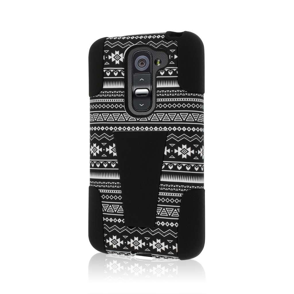 LG G2 Mini - Black Aztec MPERO IMPACT X - Kickstand Case Cover