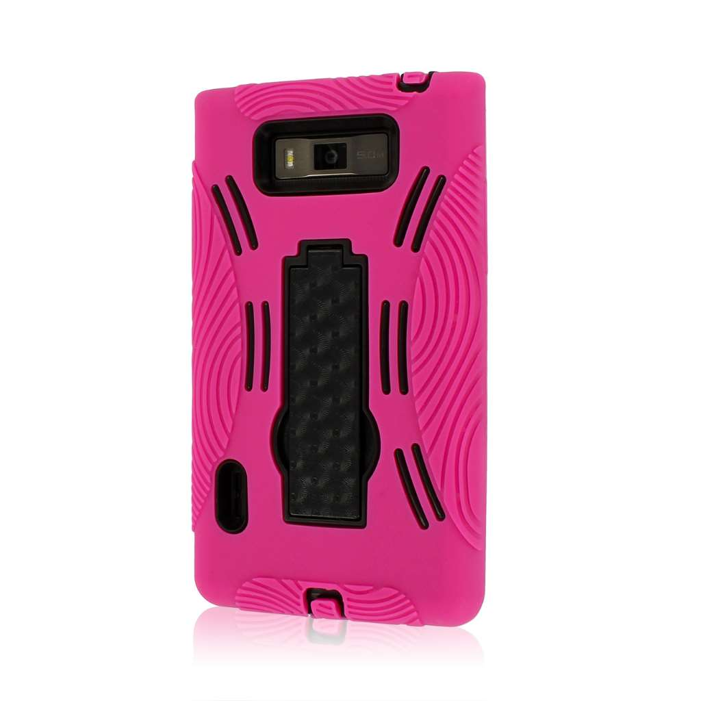 LG Splendor / Venice US730 - Hot Pink MPERO IMPACT XL - Kickstand Case Cover