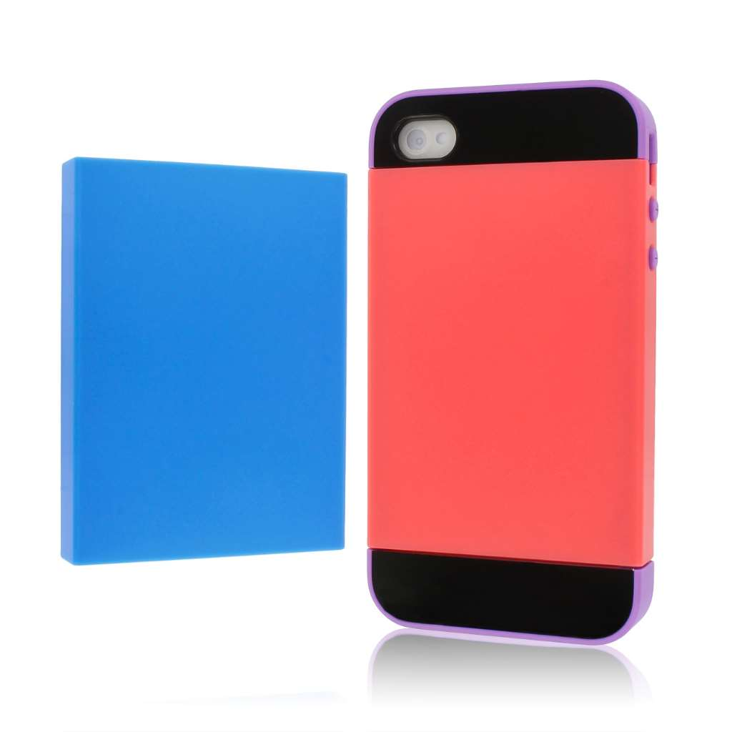 Apple iPhone 4 / 4S - Purple Blue Coral MPERO Fusion Fit - Protective Case