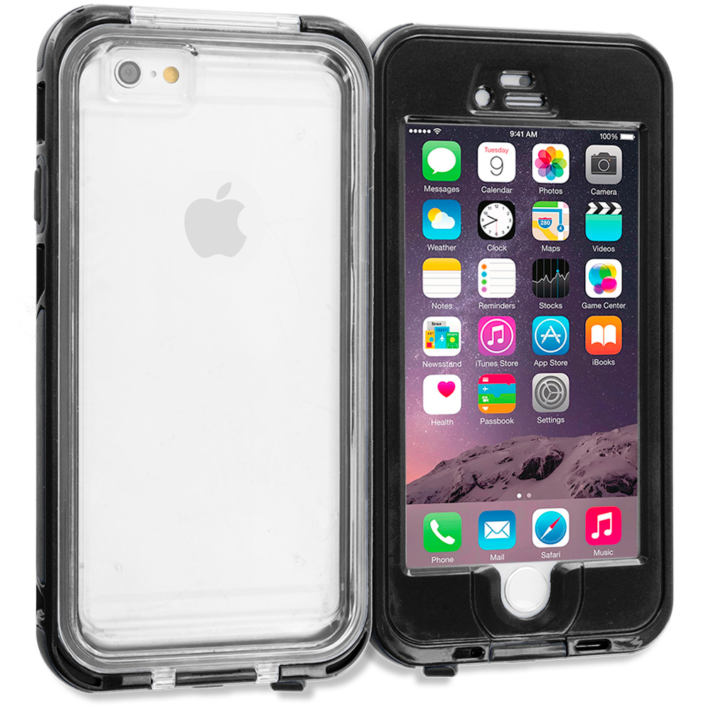 Apple iPhone 6 6S (4.7) Black Waterproof Shockproof Dirtproof Hard Full Protection Case Cover