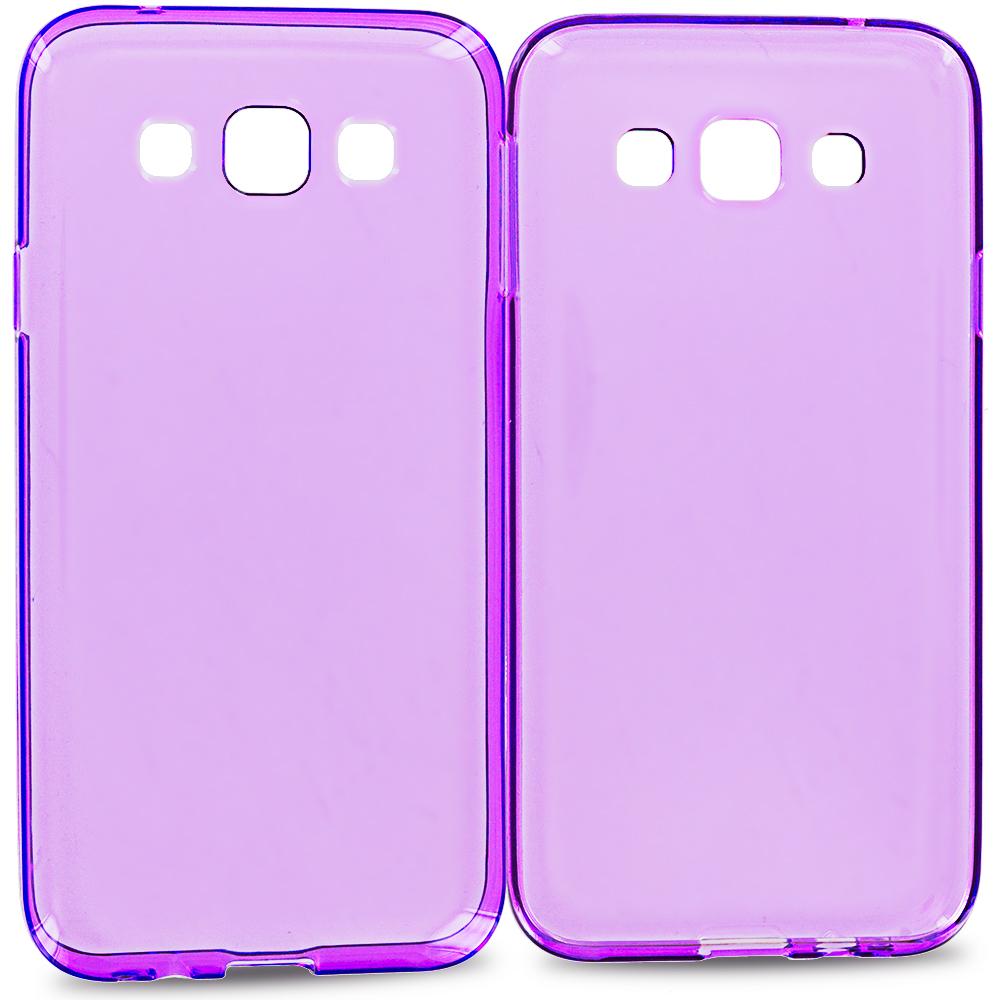 Samsung Galaxy E5 S978L Purple TPU Rubber Skin Case Cover