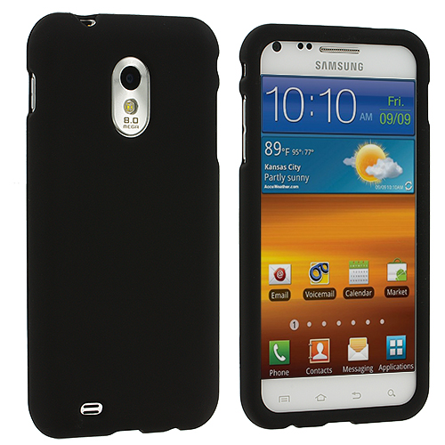 Samsung Epic Touch 4G D710 Sprint Galaxy S2 Black Hard Rubberized Case Cover