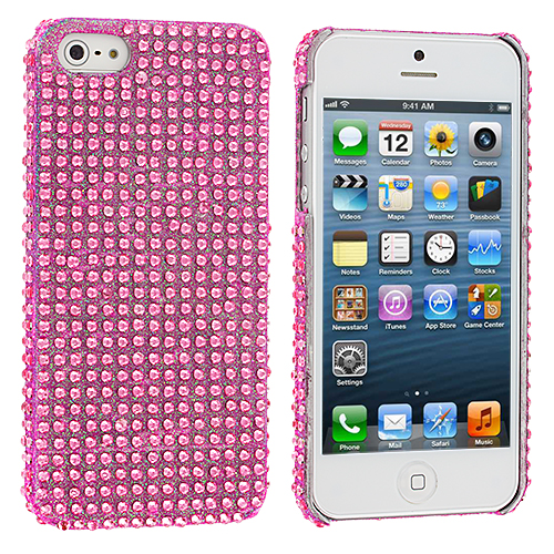 Apple iPhone 5/5S/SE Light Pink Bling Rhinestone Case Cover