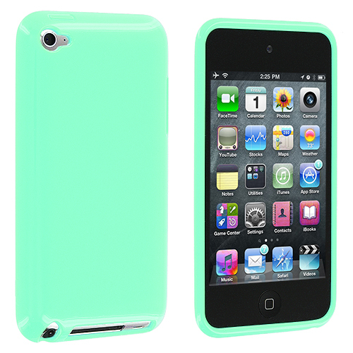 Apple iPod Touch 4th Generation Mint Green Solid TPU Rubber Skin Case Cover