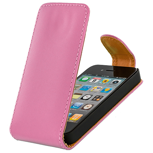 Apple iPhone 4/4S Pink Flip Wallet Pouch