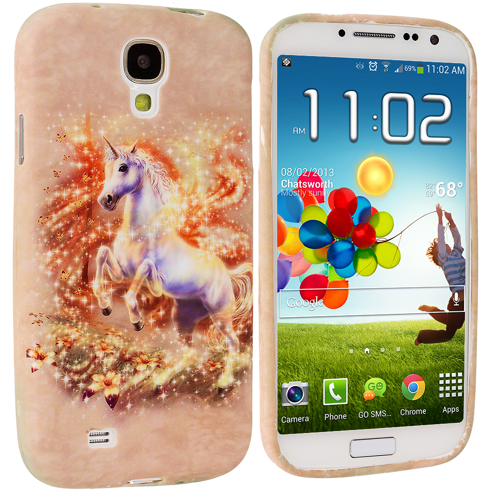 Samsung Galaxy S4 Unicorn TPU Design Soft Case Cover
