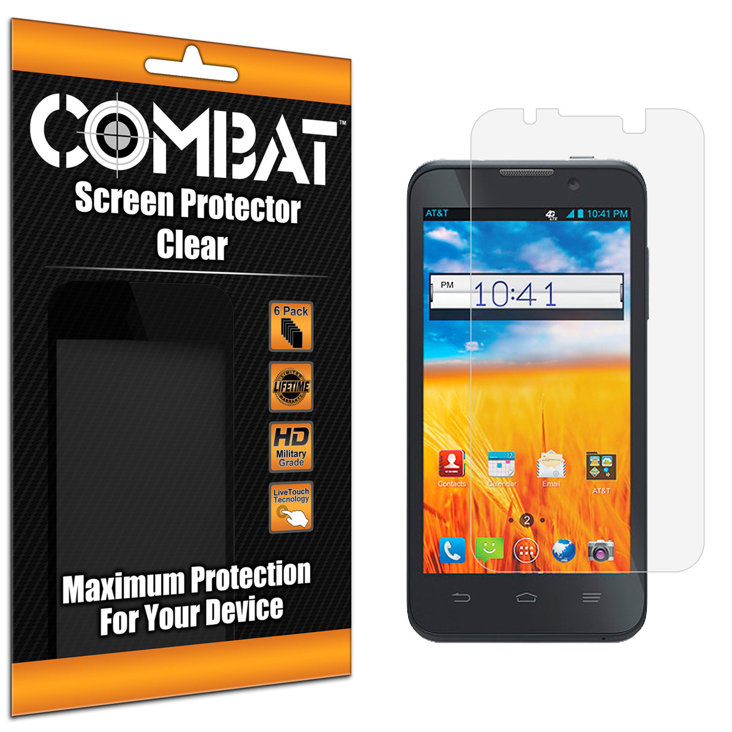 ZTE Z998 Combat 6 Pack HD Clear Screen Protector