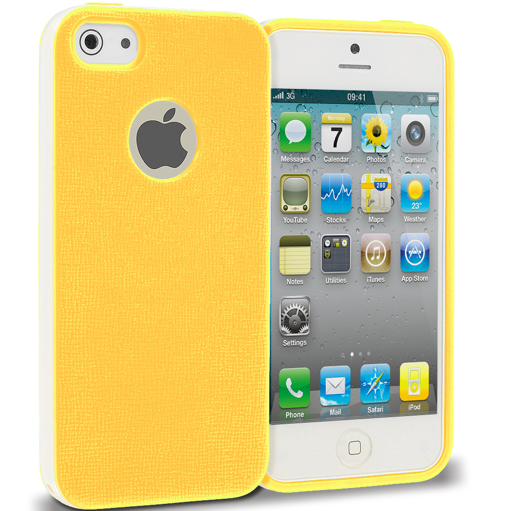 Apple iPhone 4 / 4S Yellow Hybrid TPU Bumper Case Cover
