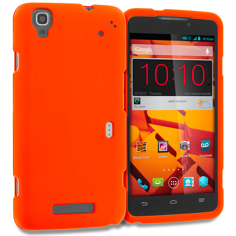 ZTE Boost Max Max Plus + N9521 Orange Hard Rubberized Case Cover