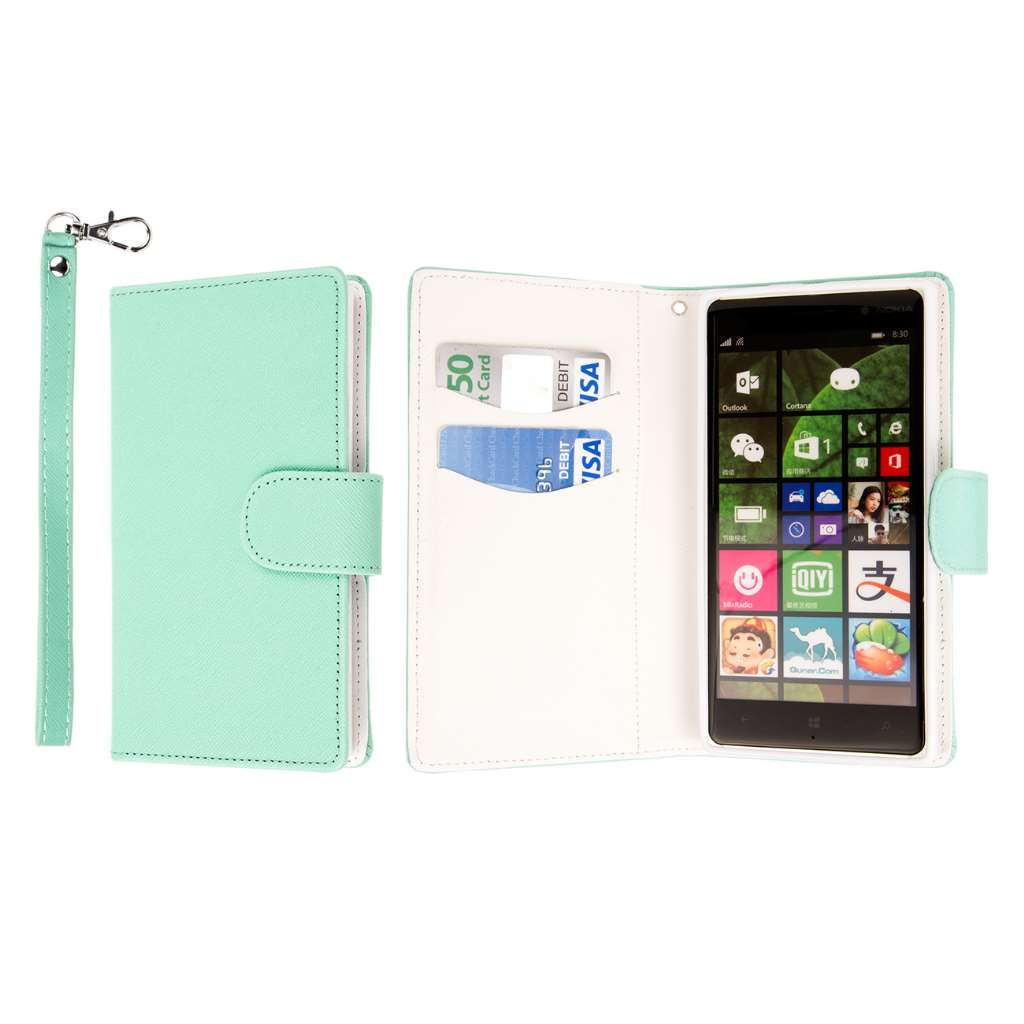 Nokia Lumia 830 - Mint MPERO FLEX FLIP Wallet Case Cover