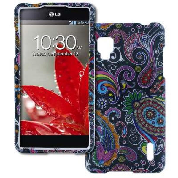 Sprint LG Optimus G LS970 MPERO Full Protection Midnight Paisley Case Cover