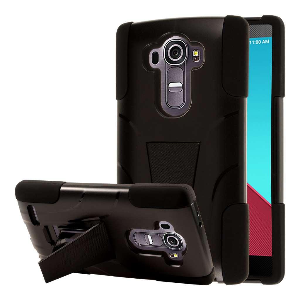 LG G4 - Black MPERO IMPACT X - Kickstand Case Cover