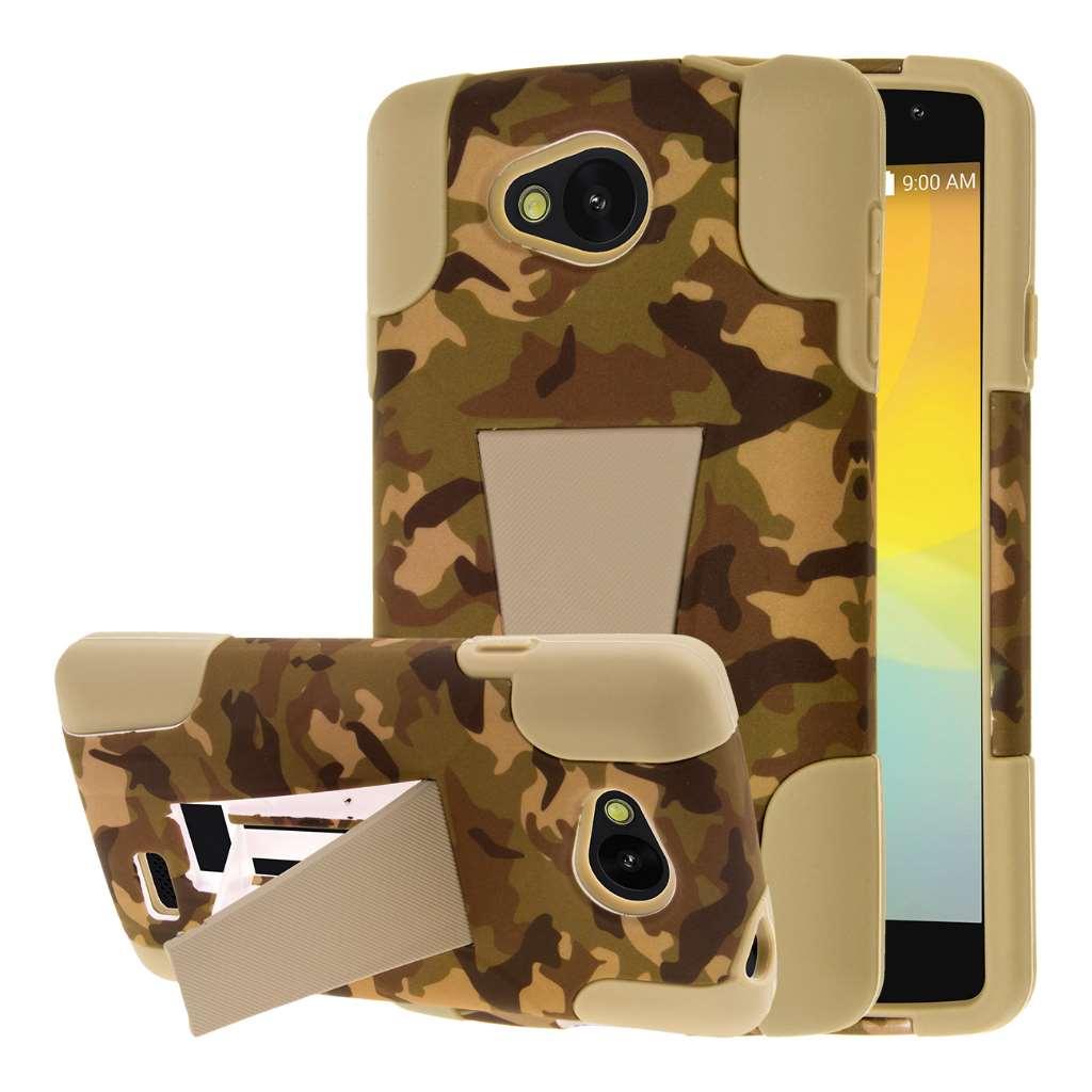 LG F60 - Hunter Camo MPERO IMPACT X - Kickstand Case Cover