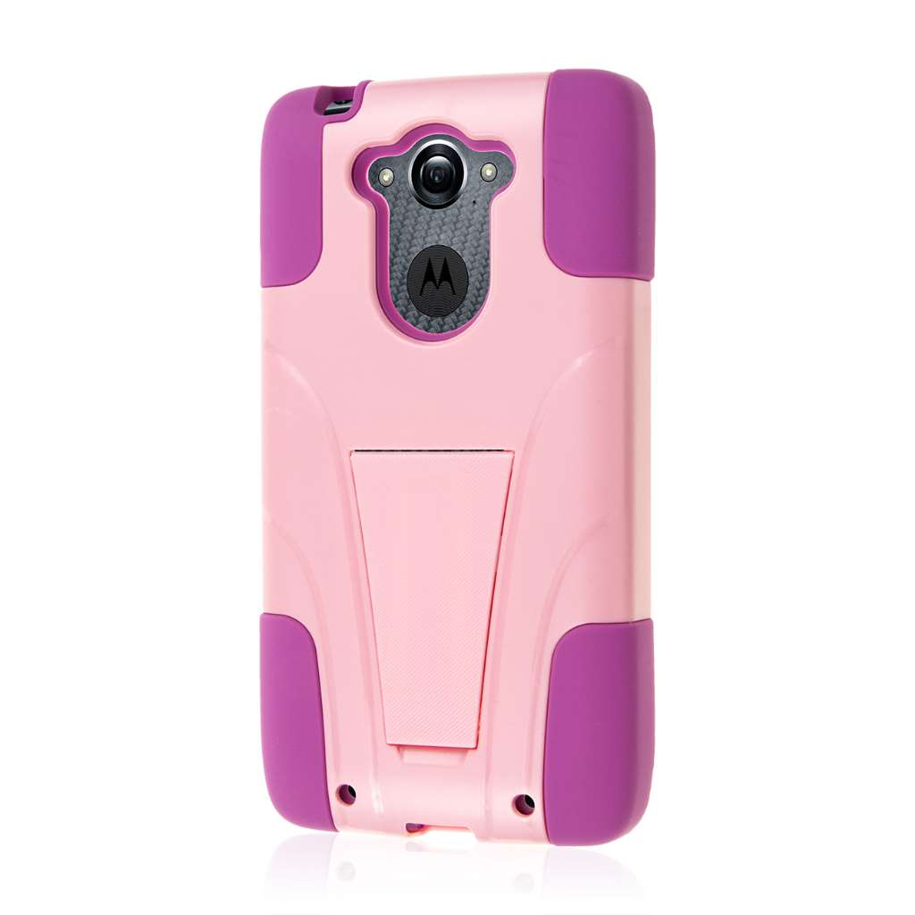 Motorola DROID TURBO - Pink MPERO IMPACT X - Kickstand Case Cover