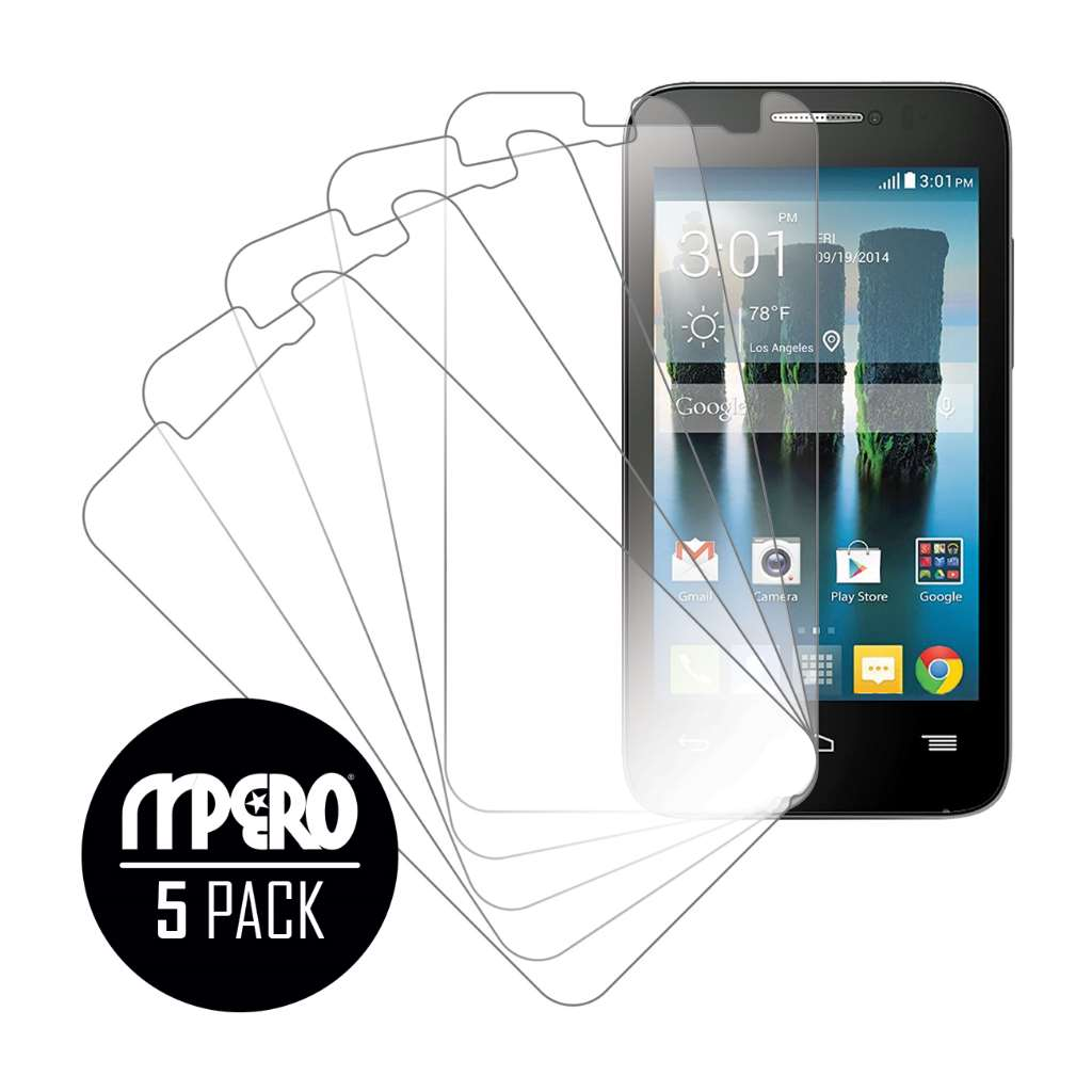 Alcatel OneTouch Evolve 2 MPERO 5 Pack of Ultra Clear Screen Protectors