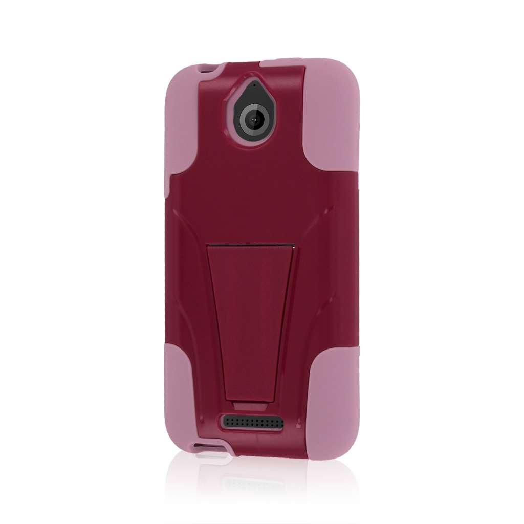 HTC Desire 510 512 - Hot Pink / Pink MPERO IMPACT X - Kickstand Case Cover