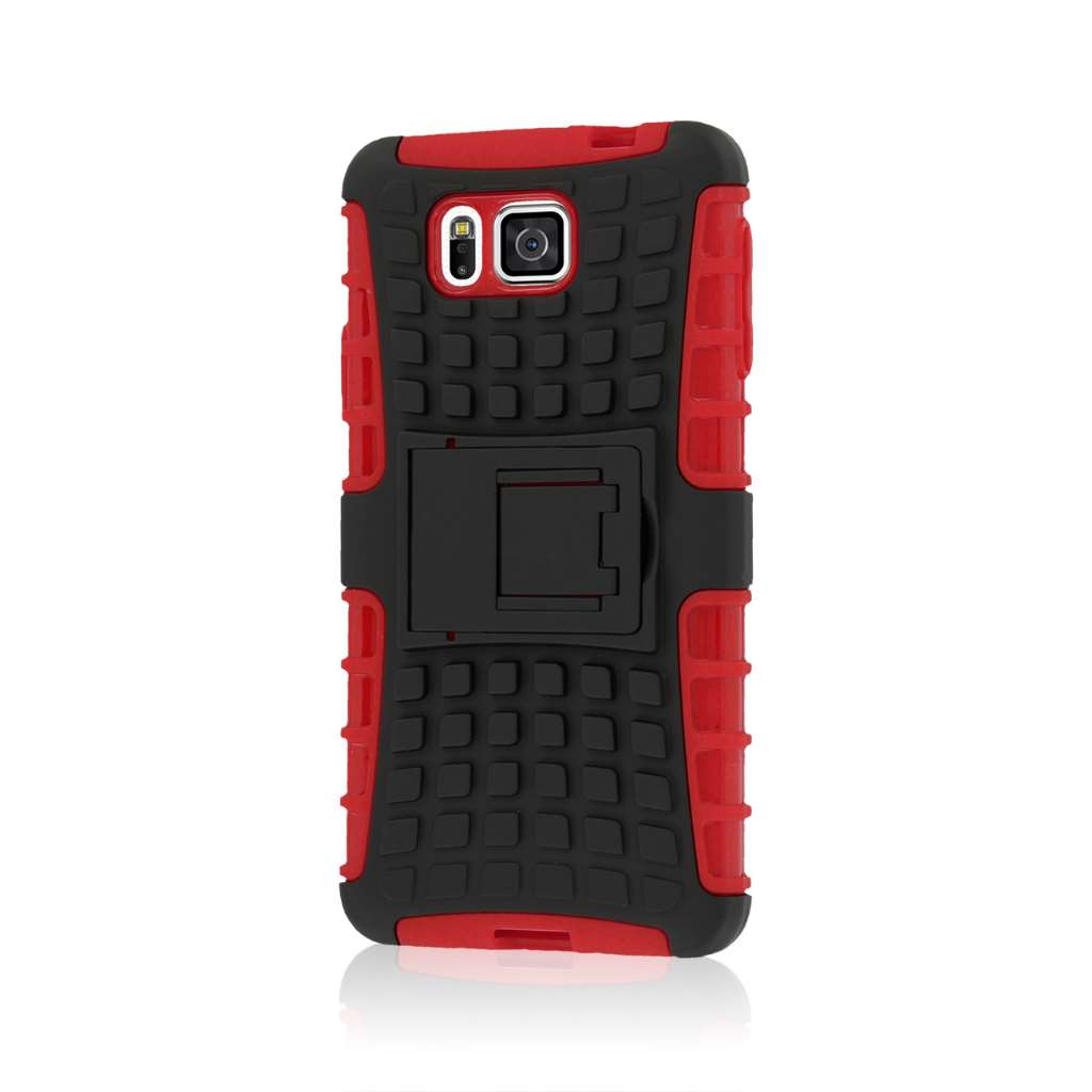 Samsung Galaxy Alpha - Red MPERO IMPACT SR - Kickstand Case Cover