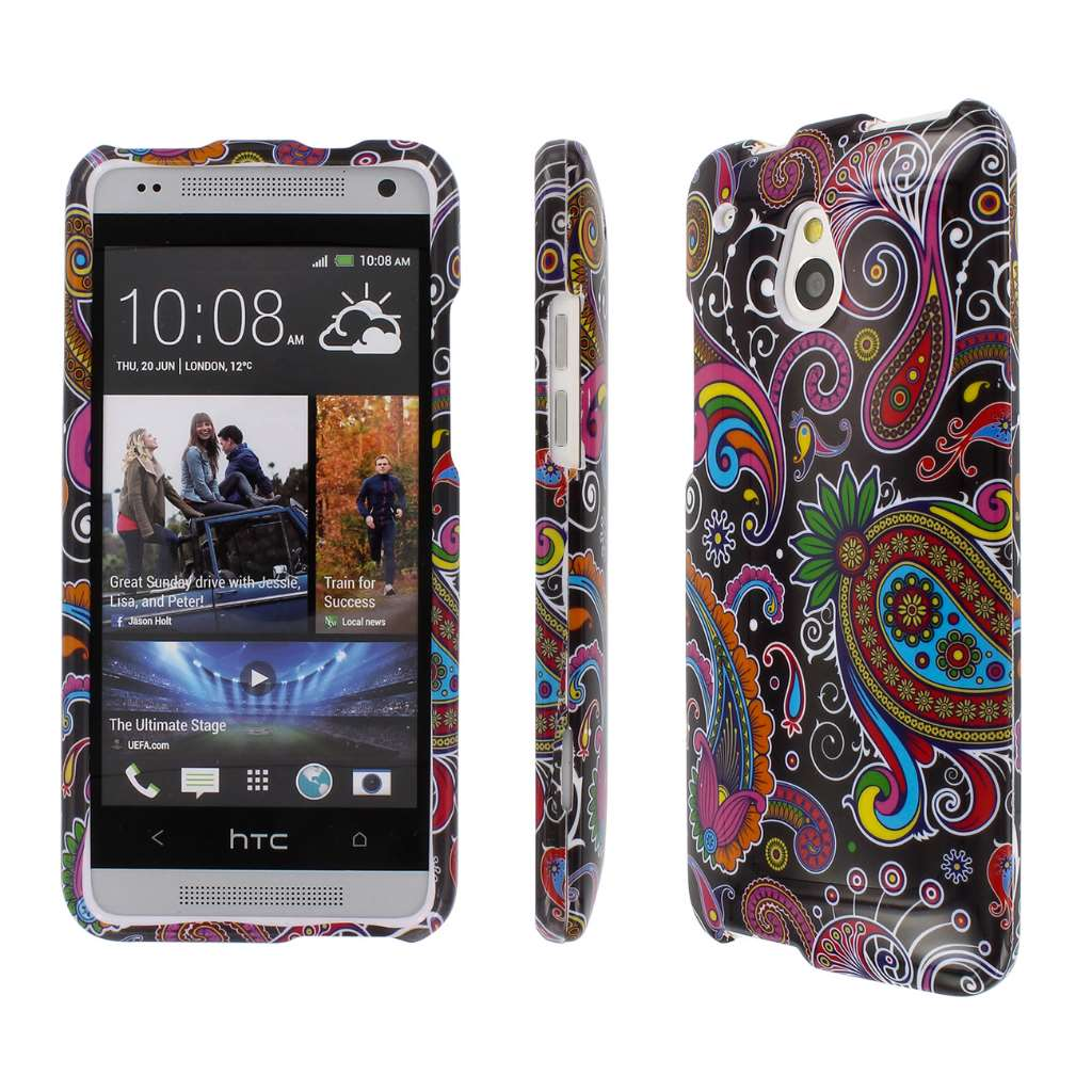 HTC One Mini - Black Paisley MPERO SNAPZ - Glossy Case Cover