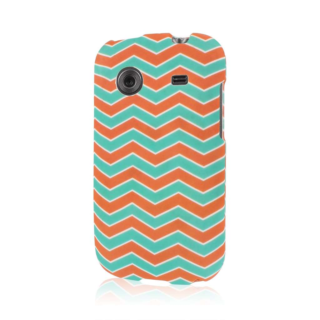 ZTE Whirl - Mint Chevron MPERO SNAPZ - Rubberized Case Cover