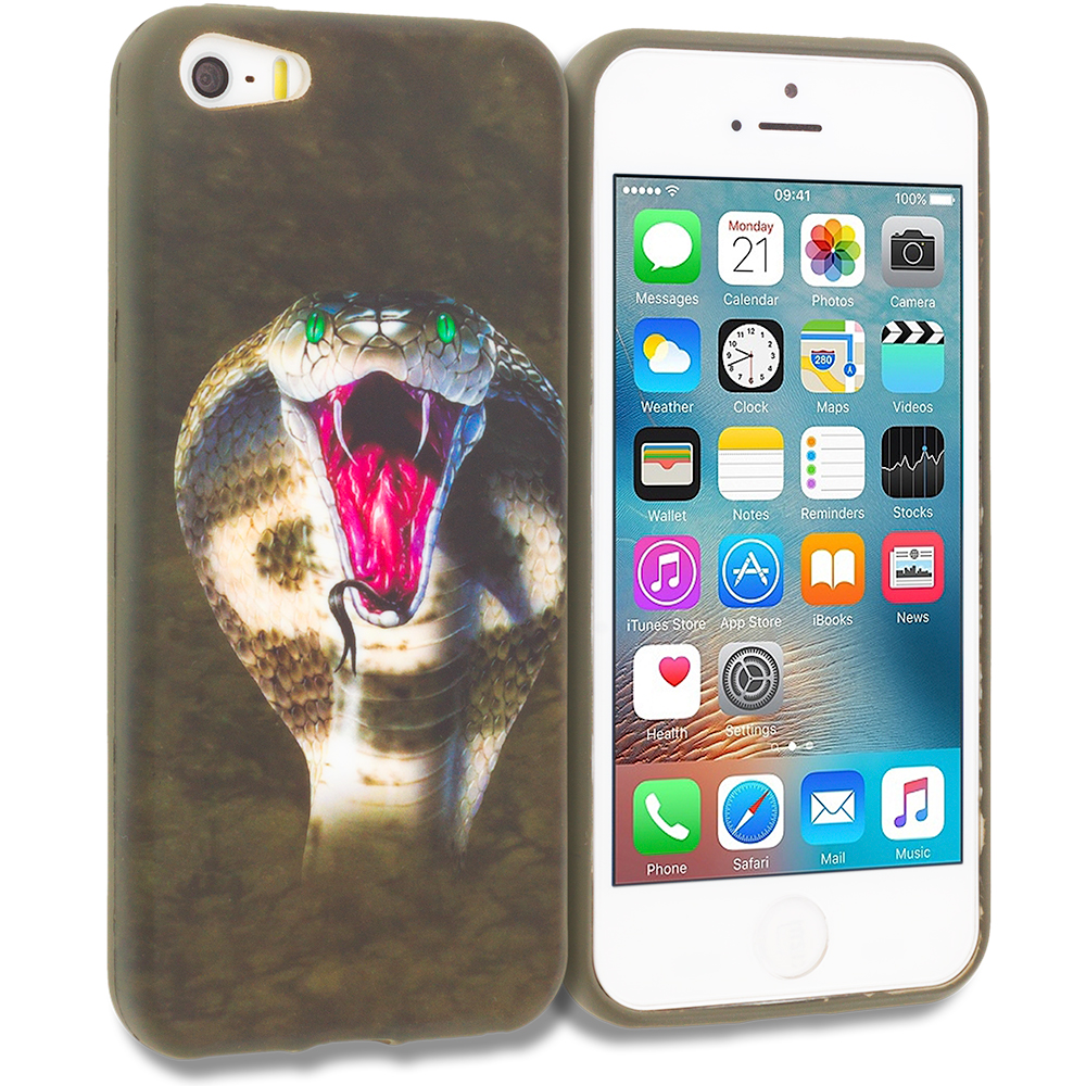 Apple iPhone 5/5S/SE Kobra TPU Design Soft Rubber Case Cover