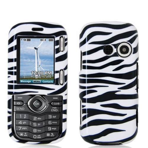 LG Cosmos VN250 / Rumor 2 LX265 Black / White Zebra Design Crystal Hard Case Cover