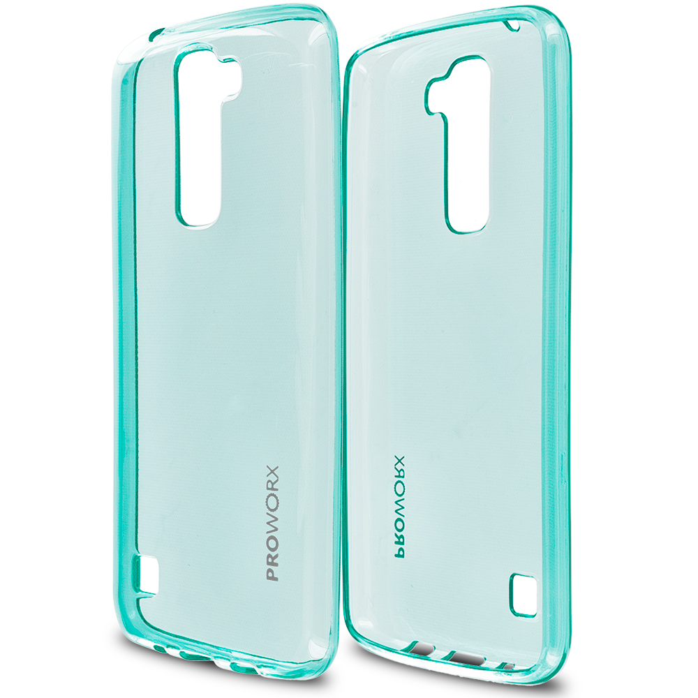 LG Tribute 5 K7 Phoenix 2 Escape 3 Treasure Mint Green ProWorx Ultra Slim Thin Scratch Resistant TPU Silicone Case Cover