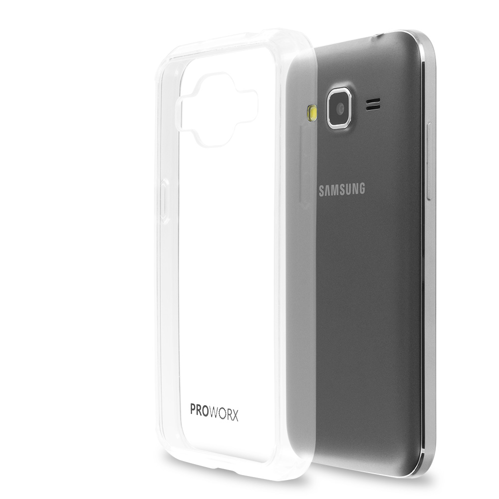 Samsung Galaxy Prevail LTE Core Prime G360P Clear ProWorx Shock Absorption Case Bumper TPU & Anti-Scratch Clear Back Cover