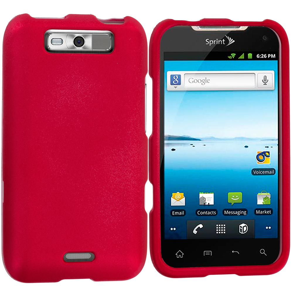 LG Viper / Connect Red Hard Rubberized Case Cover