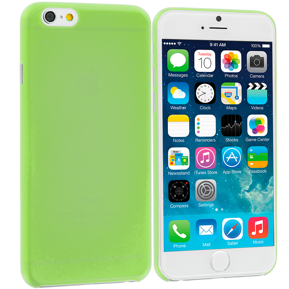 Apple iPhone 6 Plus 6S Plus (5.5) Neon Green 0.3mm Super Ultra Thin Back Case Cover