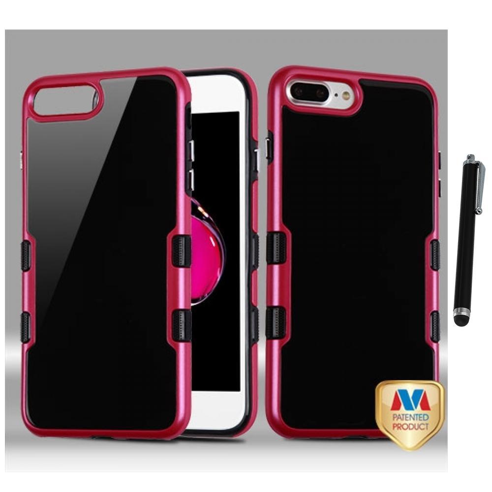 for iphone 7 plus 5 5 2 piece tpu hard fusion case bumper cover stylus pen ebay. Black Bedroom Furniture Sets. Home Design Ideas
