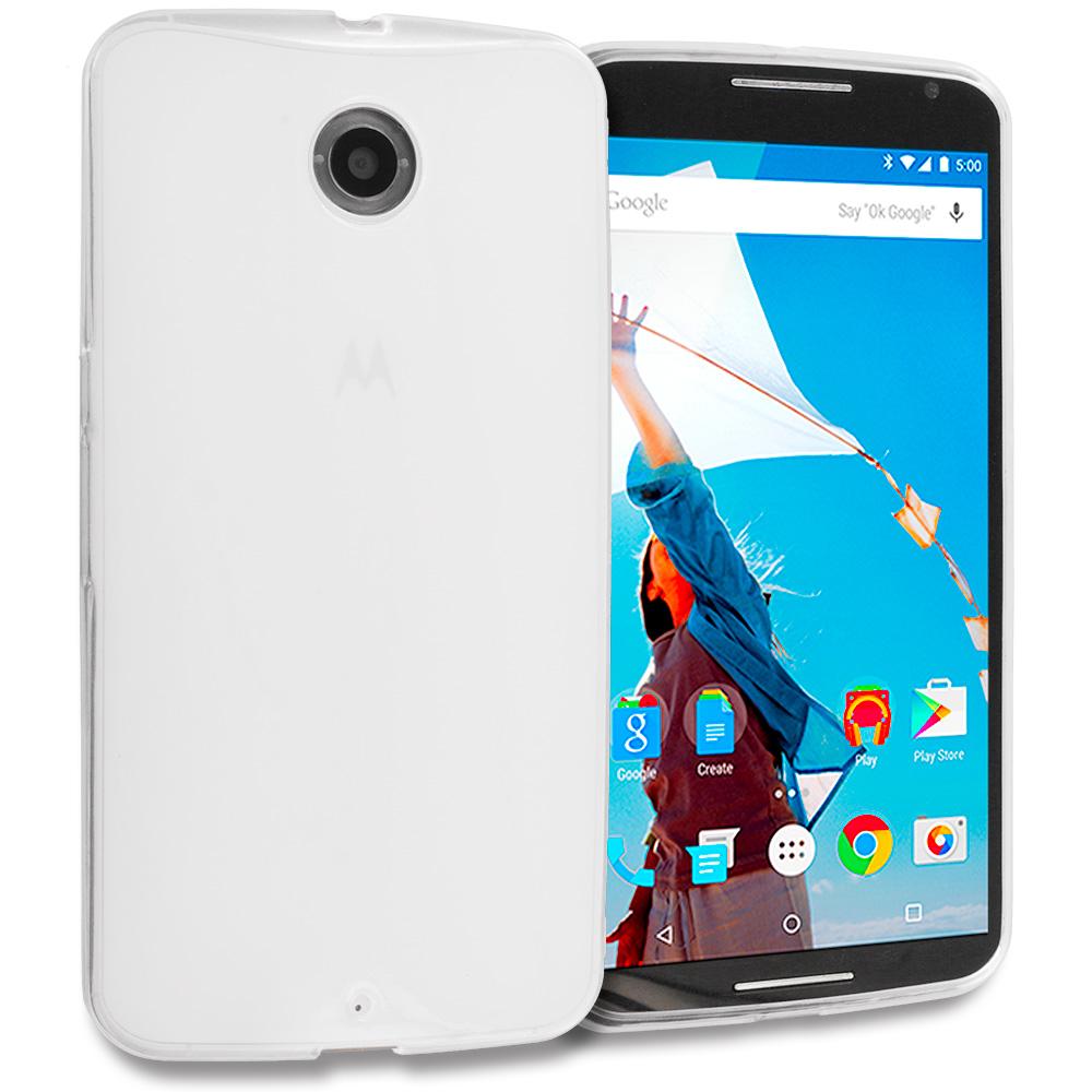 Motorola Google Nexus 6 Clear TPU Rubber Skin Case Cover