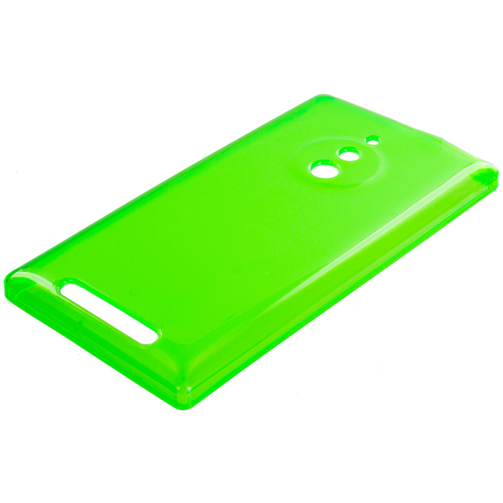 Nokia Lumia 830 Neon Green TPU Rubber Skin Case Cover