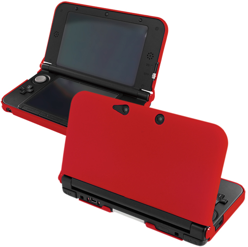 New 2015 Nintendo 3DS XL Red Hard Rubberized Case Cover