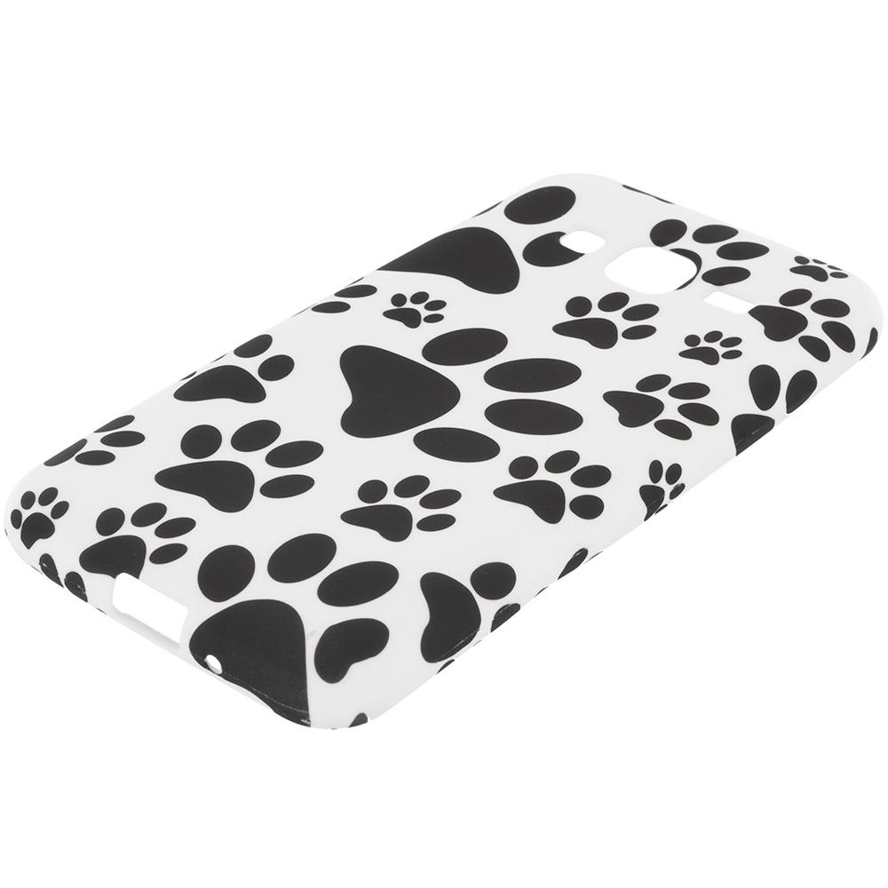Samsung Galaxy J3 2016 Amp Prime Express Prime J3V Dog Paw TPU Design Soft Rubber Case Cover