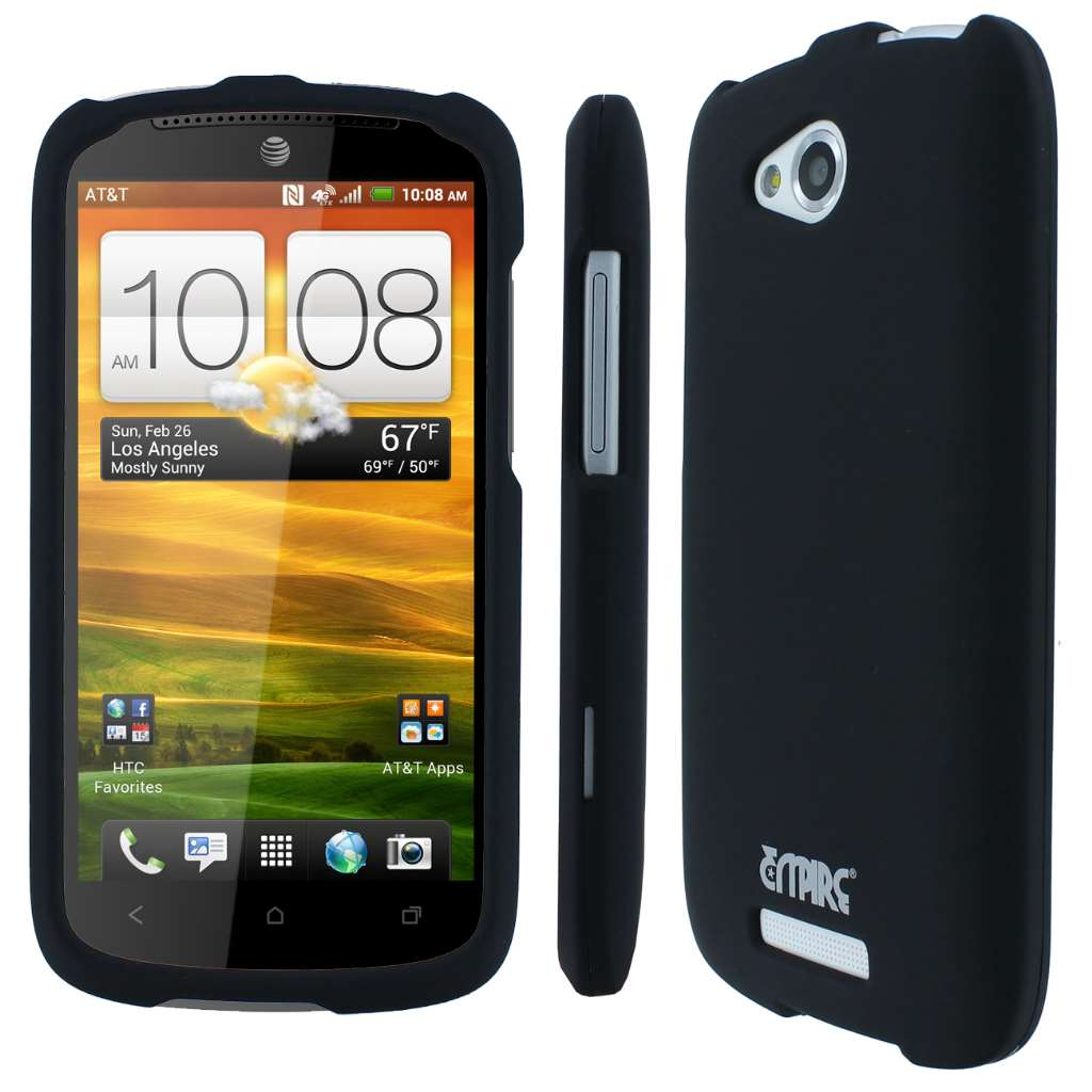 HTC One VX MPERO Full Protection Rubberized Black Case Cover
