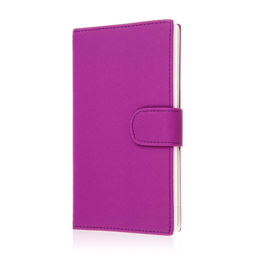 ZTE ZMAX - Purple MPERO FLEX FLIP Wallet Case Cover