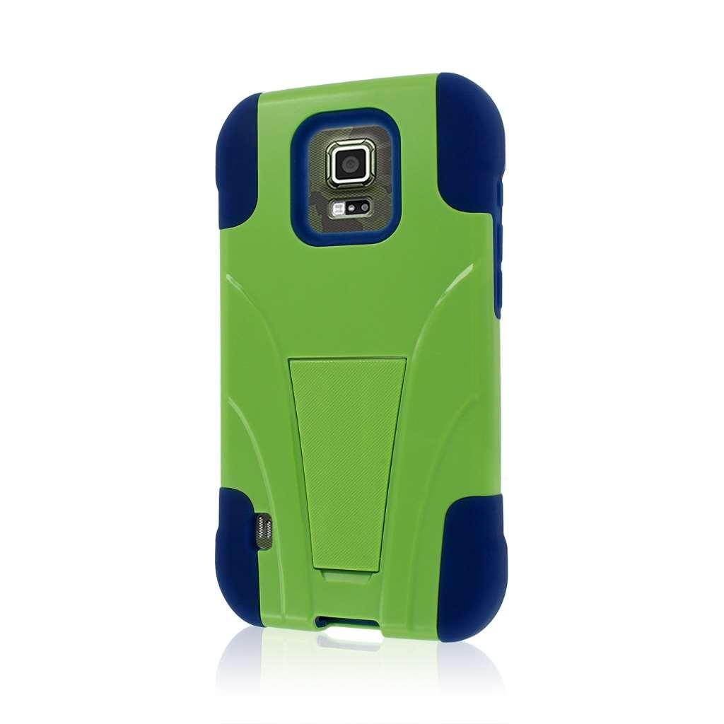 Samsung Galaxy S5 Active - Blue / Green MPERO IMPACT X - Kickstand Case