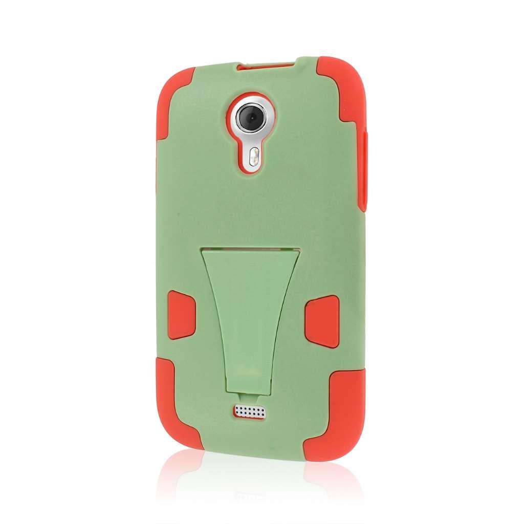 BLU Studio 5.0 - Coral / Mint MPERO IMPACT X - Kickstand Case Cover