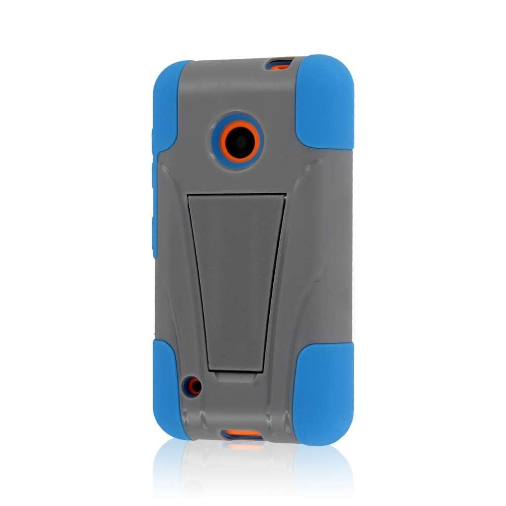 Nokia Lumia 530 - Blue / Gray MPERO IMPACT X - Kickstand Case Cover