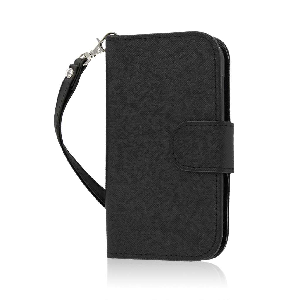 HTC One SV - Black MPERO FLEX FLIP Wallet Case Cover