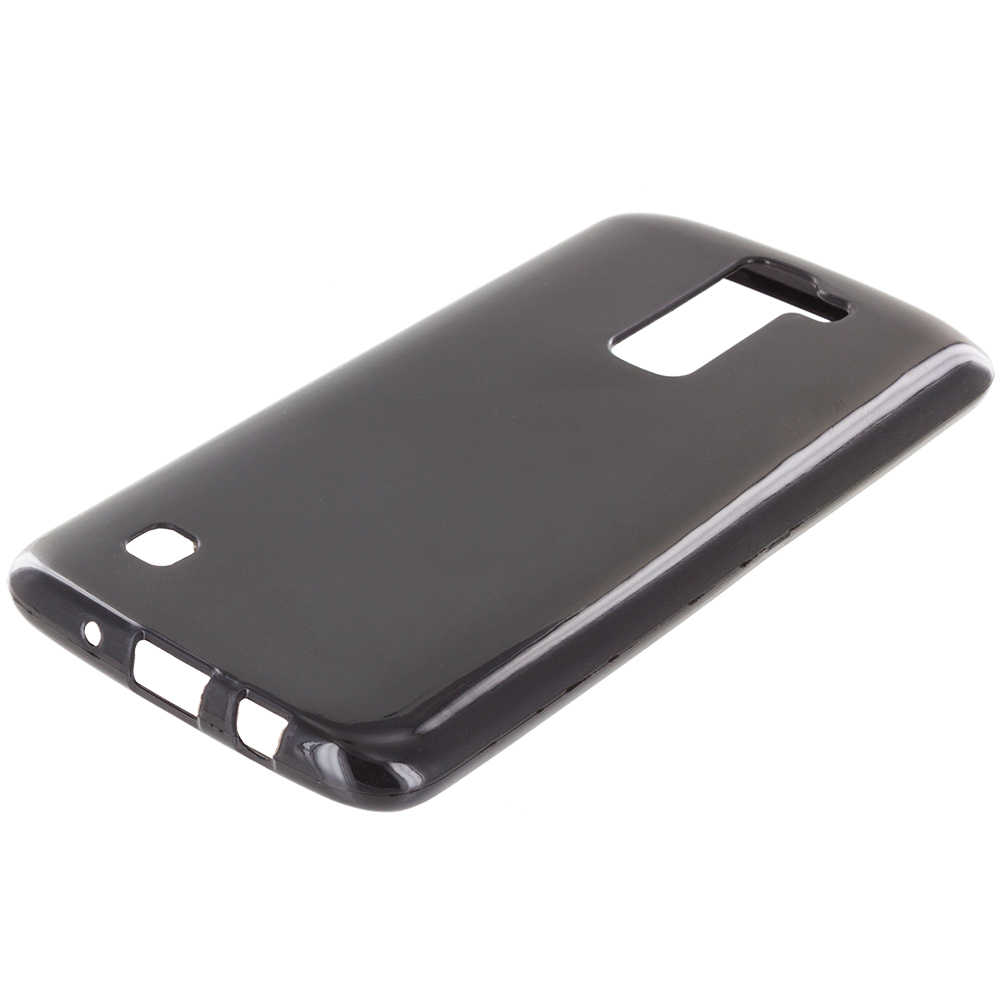 LG Tribute 5 K7 Black TPU Rubber Skin Case Cover