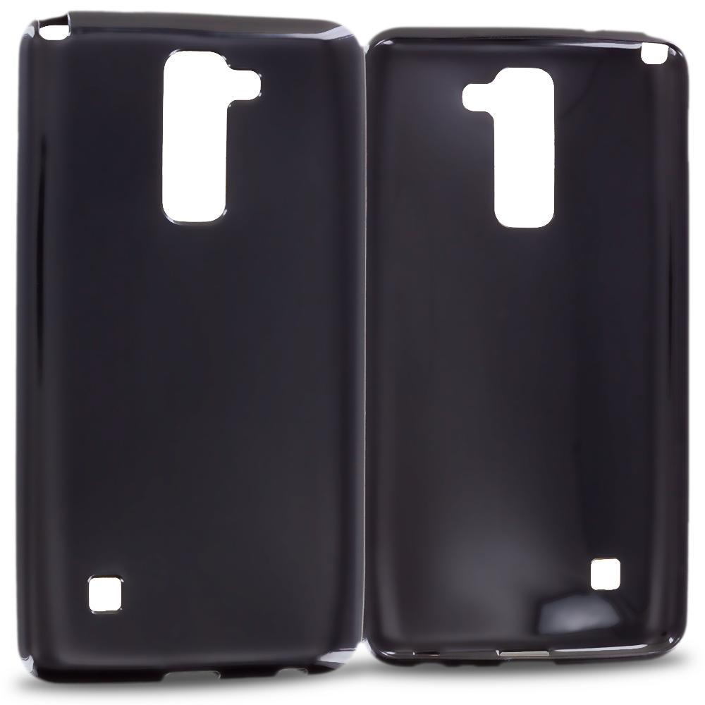 LG G Stylo 2 LS775 Black TPU Rubber Skin Case Cover