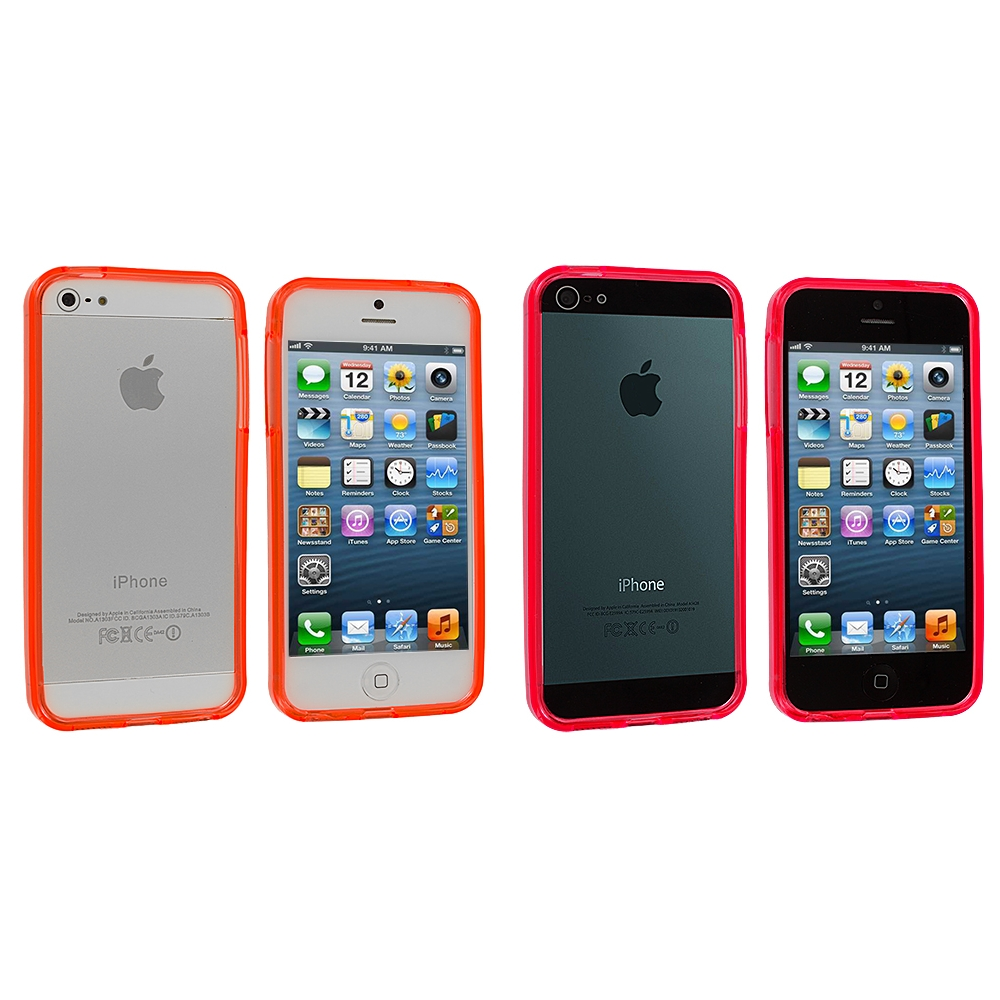 Apple iPhone 5/5S/SE Combo Pack : Red TPU Bumper