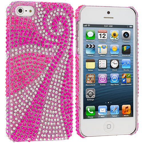 Apple iPhone 5 Phoenix Tail Bling Rhinestone Case Cover