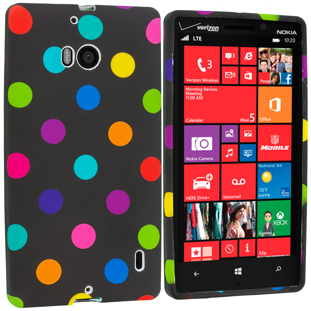 Nokia Lumia 929 Icon Black / Colorful TPU Design Soft Case Cover