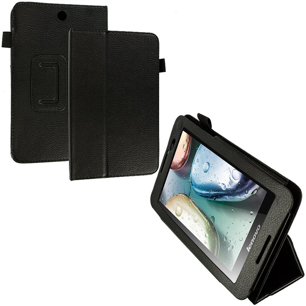 Lenovo Tab A7-50 Black Folio Pouch Flip Case Cover Stand
