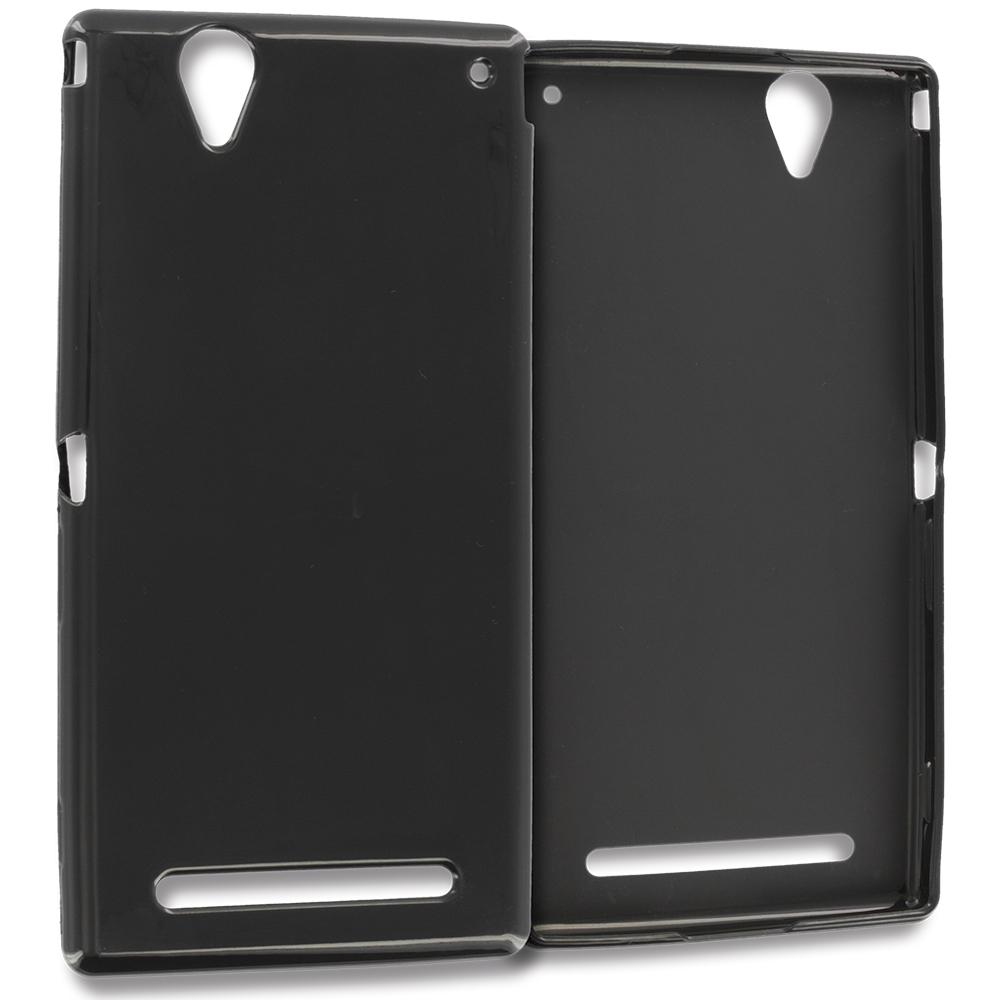 Sony Xperia T2 Ultra D5303 Black TPU Rubber Skin Case Cover