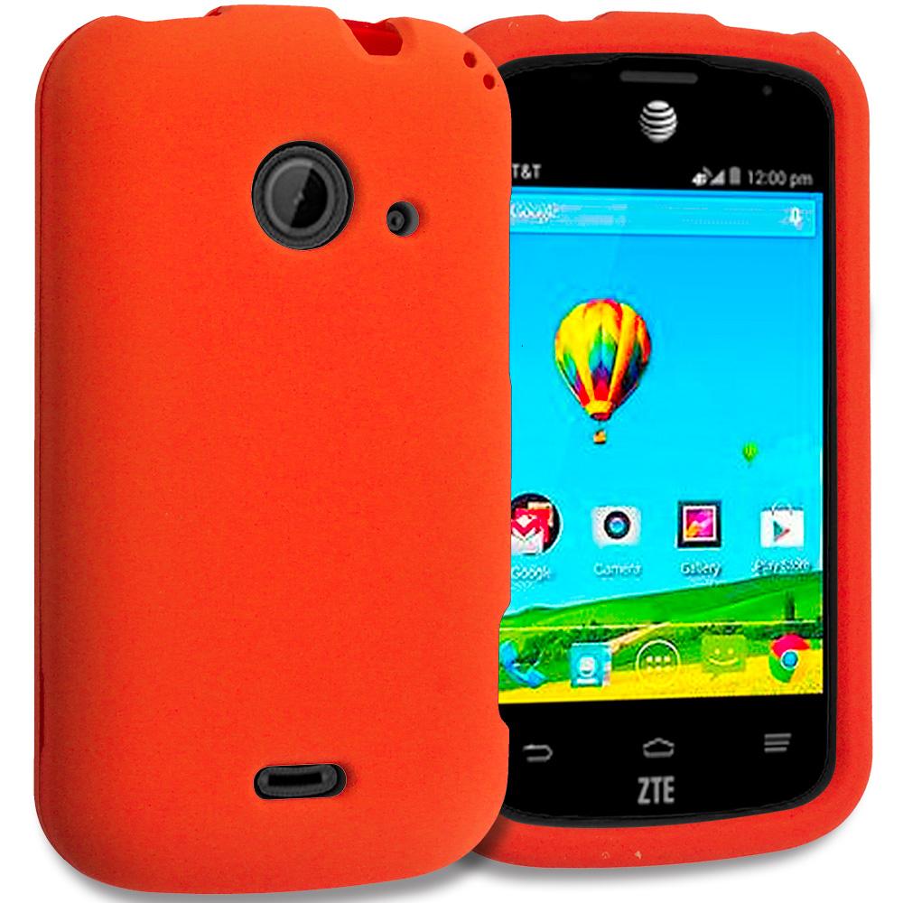 ZTE Zinger Prelude 2 Z667 Orange Hard Rubberized Case Cover