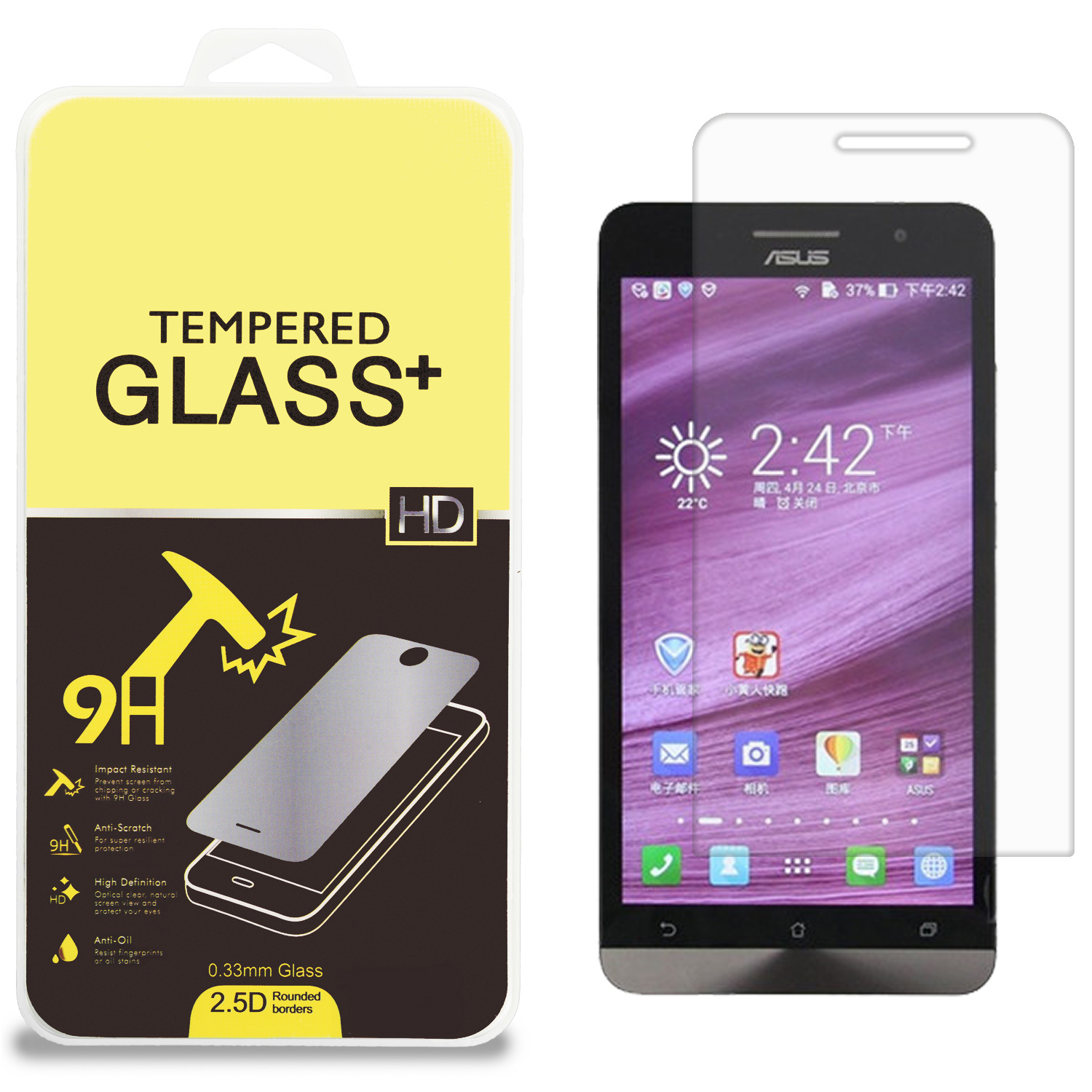 Asus Zenfone 6 Clear Tempered Glass High Quality 0.33mm LCD Screen Protector